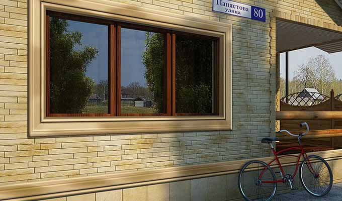 Фасадные панели  Альта-Профиль цокольный сайдинг